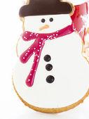 Sněhulák cookie — Stock fotografie