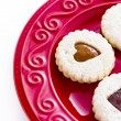 Linzer Torte Cookies — Stock Photo