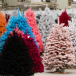 Flocked Christmas Tree — Stock Photo #17460377