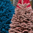 Flocked Christmas Tree — Stock Photo