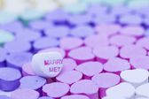 Canversation Heart candies — Stock Photo
