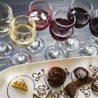 Wine and Chocolates - ストック写真
