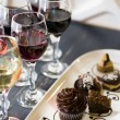 Wine and Chocolates - Stock Photo