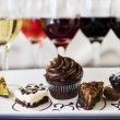 Stock Photo: Wine and Chocolates