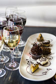 Wine and Chocolates — Stock Photo