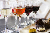 Wine and Chocolates — Stock Photo