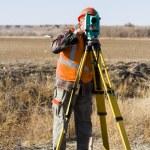Land surveyors — Stock Photo