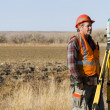 Land surveyors — Stock Photo