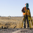 Stock Photo: Land surveyors