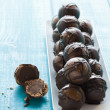 Chocolate truffles - Stock Photo