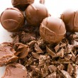 图库照片: Chocolate truffles