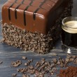 Lefthand Brewery Milk Stout Cake - Stock Photo