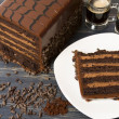 Lefthand Brewery Milk Stout Cake — Stock Photo