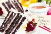 Chocolate Strawberry Lemon Torte — Stock Photo