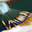 Bobbin lace craft - Stockfoto