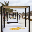Beach cabanas — Stockfoto