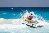 Praia do mar do caribe — Foto Stock