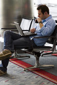 Waiting for the flight — Stock Photo