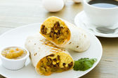 Frühstück borrito — Stockfoto
