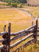 Split demiryolu çiti — Stok fotoğraf