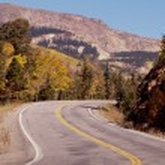 Autumn on the road — Stock Photo
