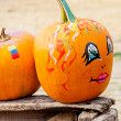 Stock Photo: Painted Pumpkins