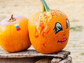 Painted Pumpkins — Stock Photo