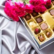 caixa de chocolates — Foto Stock