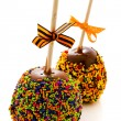Caramel apple — Stock Photo