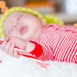 Newborn Christmas baby — Stock Photo #35770547