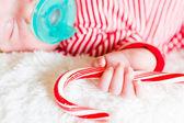 Newborn Christmas baby — Stock Photo