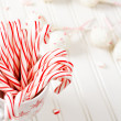 Peppermint chocolate cake pops — Stock Photo