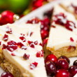 Stock Photo: Cranberry bliss bar