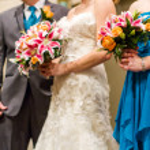Groom and bride — Stock Photo #38759335