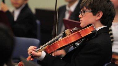 Kinderen orkest — Stockvideo