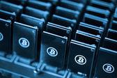 Bitcoin mining — Stock Photo