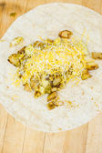 Breakfast burrito — Fotografia Stock
