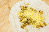 Snídaně burrito — Stock fotografie