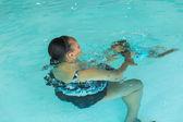 水泳のレッスン — ストック写真