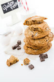 Chocolate chunk cookies — Stock Photo