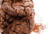 Dark chocolate butter cookies — Stockfoto