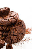 Dark chocolate butter cookies — Stock Photo