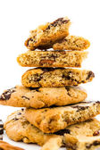 Chocolate chunk cookies with toasted pecans — Stock Photo
