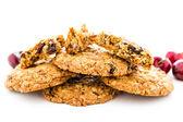 Cherry chocolate oatmeal cookies — Stock Photo