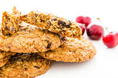 Cherry chocolate oatmeal cookies — Stock Photo