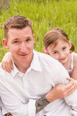 Father and daughter at picnic — Stock Photo