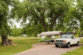 Rv camping — Stockfoto