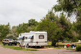 RV camping — Stock Photo