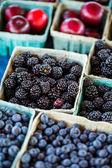 Fresh produce blackberries — Stock Photo