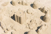 Sandcastle on the sand — Stock Photo
